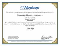 Nadcap Welding Certificate